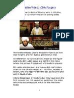 New Bin Laden Video 100% Forgery