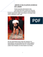 Pentagon Admits It Has No Photo Evidence of Bin Laden