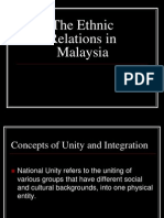 Etnic Relations in Malaysia