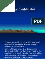 Ships Certificates
