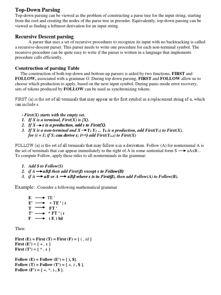 Compilerlecturetop downpdf parsing string computer science biocorpaavc