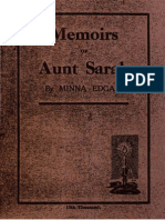 1920 Memoirs of Aunt Sarah