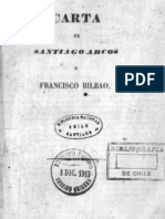 Carta de Santiago Arcos a Francisco Bilbao.