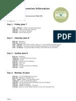 Hobart YSA Convention Information