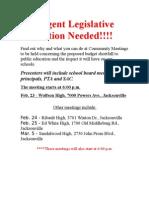 Urgent Legislative Action Needed-022409