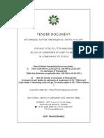 TENDER OF NTC FOR RG FSI AUCTION