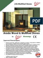 Arada Hellas.Wembley Athlon X Wood & Multifuel Stoves