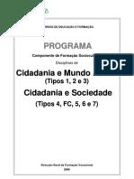Cidadania e Mundo Actual Cidadania e Sociedade