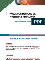 Pagos Derecho de Vigencia y Penalidad
