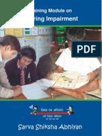 Training Module on Hearing Impairment