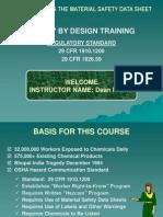 MSDS Program