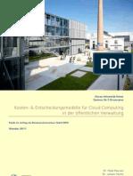 Kosten- & Entscheidungsmodelle für Cloud Computing in der öffentlichen Verwaltung