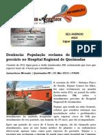 Denúncia População reclama de atendimento precário no Hospital Regional de Queimadas