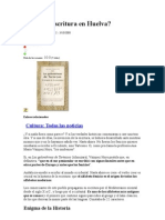 Nació La Escritura en Huelva