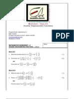Inverse Trigonometric Functions Xii 2012 13