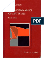 Thermodynamics Of Materials Gaskell Pdf