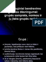 Psichologiniai bendravimo grupėse dėsningumai