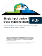 Single input device for cross-machine manipulation