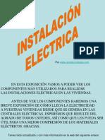 INSTALACION ELECTRICA EN LAS VIVIENDAS