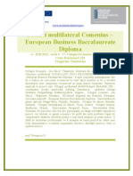 EuroBac Diploma Comenius multilateral 2013