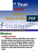 1st YEAR UNIT 3 -  LESSON 2- Music of Mindoro.ppt