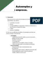 Tema 5 Autoempleo y Tipos de Empresas