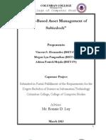 Web- Based Asset Management for SUBICDOCK