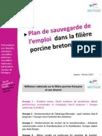 Plan sauvegarde emplois filière porcine 2013