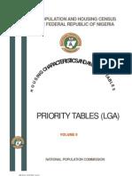 Priority Tables Volume II-Update