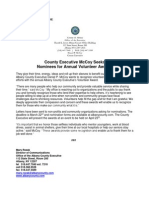 Albany County Executive's Volunteer Award Nomination Press Release
