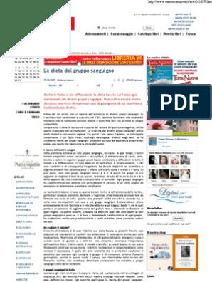 dieta per gruppo sanguigno pdf