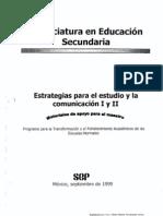 Estrategias para el estudio y la comunicación I y II B