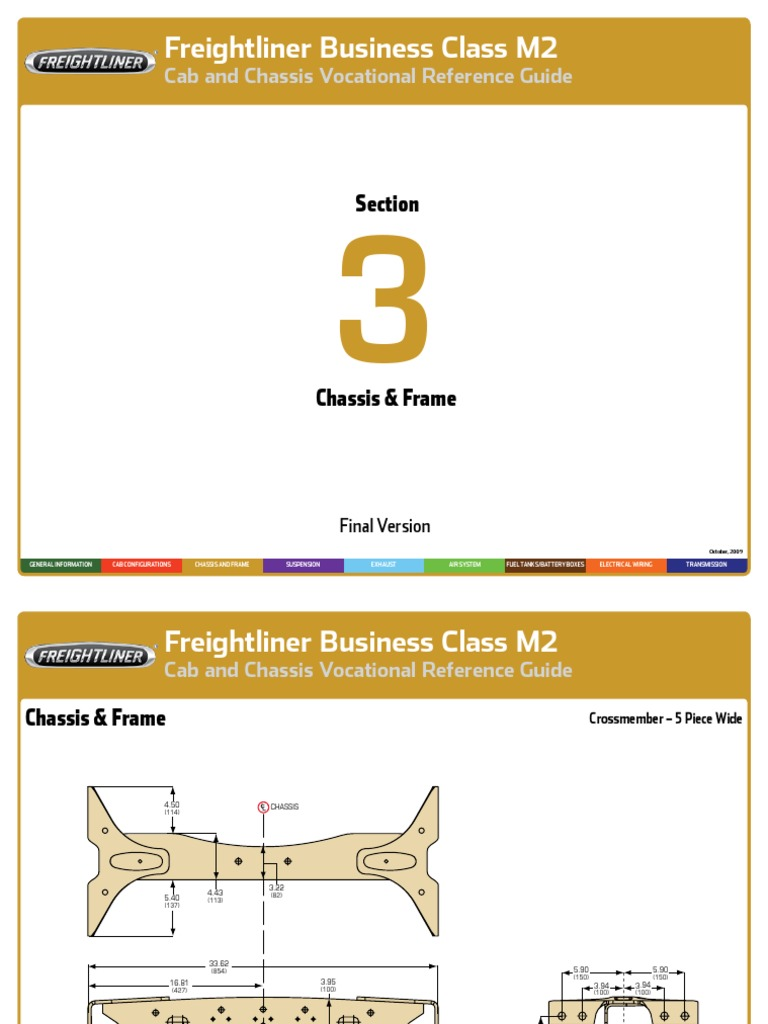 Freightliner M203chassisframe
