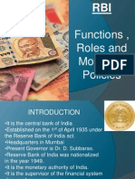 RBI and Functions