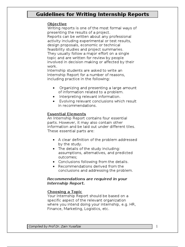 How To Write A Conclusion For Internship Report   Astar Tutorial