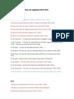 Datas Comemorativas Da Negritude 2012-2016