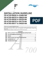 Mitsubishi FR-A700 Installation Guide