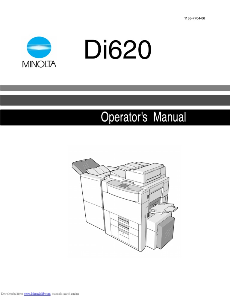 Konica minolta di520/di620 service repair manual download manuals.