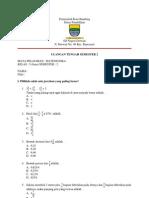Soal Uts Matematika Kelas 5 Semester 2