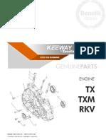 Despiece Motor Keeway RKV-TX-TXM (Idioma Castellano)
