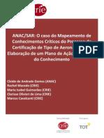 O caso do Mapeamento de Conhecimentos Críticos Cadernos CRIE ANAC 2012