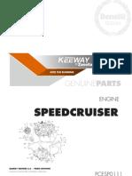 Despiece Motor Keeway SPEED CRUISER 250 (Idioma Castellano)