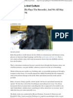 ARTICLE - A Famous Gorilla Plays the Recorder