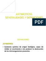 ANTIBIOTICOS generalidades