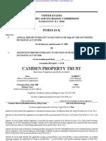 CAMDEN PROPERTY TRUST 10-K (Annual Reports) 2009-02-20