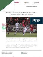 28-02-13 Boletin 1423 Coras del Deportivo Tepic visitarán a Estudiantes Tecos en la fecha 7 del Clausura 2013 de la Liga Premier de Ascenso