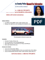 Crime Solvers Offers Reward for Information in Fatal Pedestrian Hit and Run Collision
