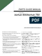 Konica Minolta bizhub 600 750 - Parts Manual