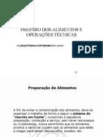 PREPARO DOS ALIMENTOS E OPERAÇÕES TÉCNICAS