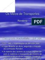 Os Meios de Transportes